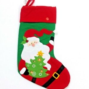 NWT Kurt Adler Christmas Stocking Santa Lighted